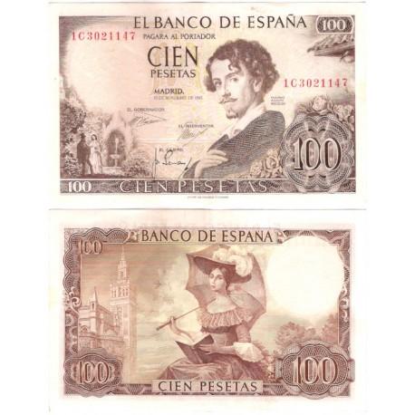 Estado Español. 1965. 100 Pesetas (EBC-) Serie 1C. Mancha