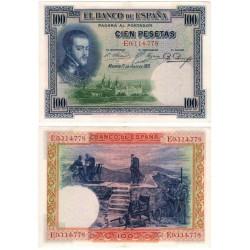 España. 1925. 100 Pesetas (EBC) Serie E. Manchita