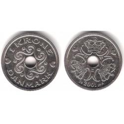 (873.1) Dinamarca. 2001. 1 Krone (EBC+)