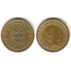 (867.2) Dinamarca. 1990. 10 Kroner (BC)