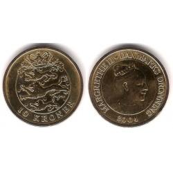 (896) Dinamarca. 2004. 10 Kroner (BC)