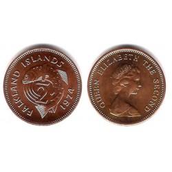 (1) Islas Malvinas. 1974. ½ Penny (SC)