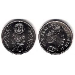 (118a) Nueva Zelanda. 2006. 20 Cents (EBC-)