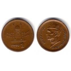 (62) Pakistán. 2002. 1 Rupee (MBC)