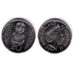 (118a) Nueva Zelanda. 2006. 20 Cents (SC)