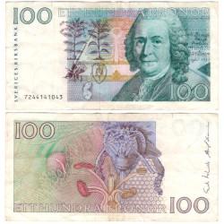 (57a) Suecia. 1987. 100 Kronor (MBC-) Leve roturas en márgenes