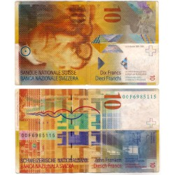 (67a) Suiza. 2000. 10 Francs (BC+)