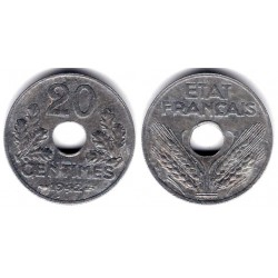 (900.1) Francia. 1942. 20 Centimes (EBC)