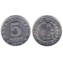 (37) Indonesia. 1974. 5 Rupiah (SC)
