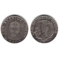 (852) Suecia. 1977. 1 Krona (MBC)