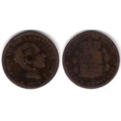 Alfonso XII. 1878. 5 Céntimos (BC-) Ceca de Barcelona OM