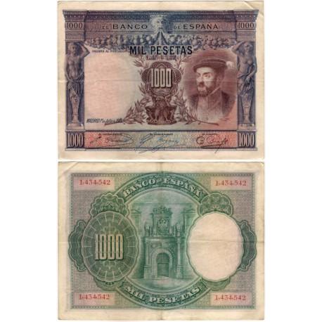España. 1925. 1000 Pesetas (MBC-) Sin Serie