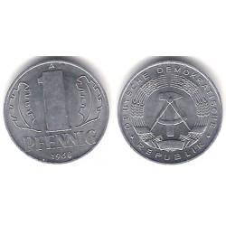 (8.1) Alemania Democrática. 1968(A). 1 Pfennig (EBC+)