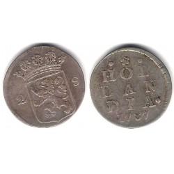 (48a) Países Bajos. 1787. 2 Stuivers (BC) (Plata)