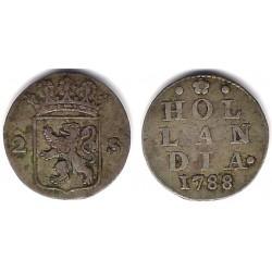 (48a) Países Bajos. 1788. 2 Stuivers (BC) (Plata)