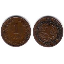 (107) Países Bajos. 1884. 1 Cent (MBC-)