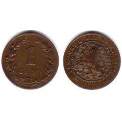 (107) Países Bajos. 1878. 1 Cent (BC+)