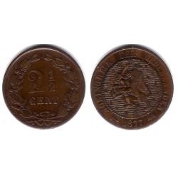 (108) Países Bajos. 1877. 2½ Cents (BC+)