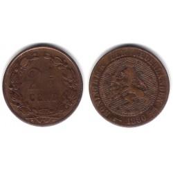 (108) Países Bajos. 1880. 2½ Cents (BC+)