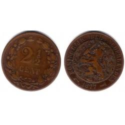 (108) Países Bajos. 1877. 2½ Cents (BC)
