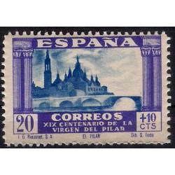 (891) 1940. 20 + 10 Céntimos. Basílica del Pilar (Nuevo)