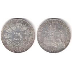 (2891) Austria. 1961. 25 Schilling (EBC) (Plata)