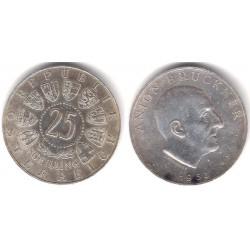 (2892) Austria. 1962. 25 Schilling (EBC) (Plata)