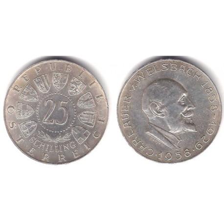 (2884) Austria. 1958. 25 Schilling (EBC) (Plata)