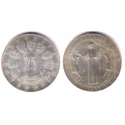 (2880) Austria. 1955. 25 Schilling (EBC+) (Plata)