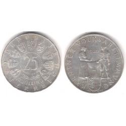 (2890) Austria. 1960. 25 Schilling (EBC+) (Plata)