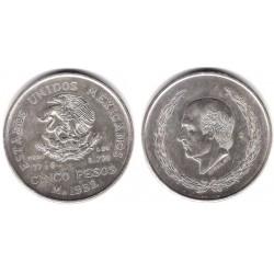 (467) Estados Unidos Mexicanos. 1952. 5 Pesos (EBC+/SC-) (Plata)