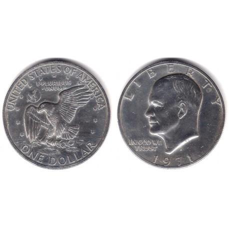 (203a) Estados Unidos de América. 1971(S). 1 Dollar (EBC) (Plata)