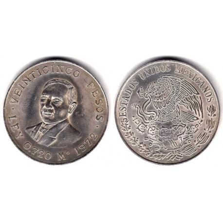 (480) Estados Unidos Mexicanos. 1972. 25 Pesos (EBC) (Plata)