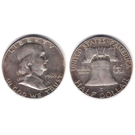(199) Estados Unidos de América. 1963. Half Dollar (MBC) (Plata)