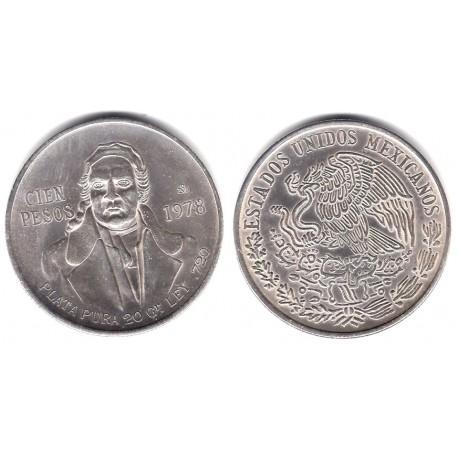(483.2) Estados Unidos Mexicanos. 1978. 100 Pesos (SC) (Plata)