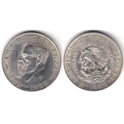 (471) Estados Unidos Mexicanos. 1959. 5 Pesos (EBC) (Plata)