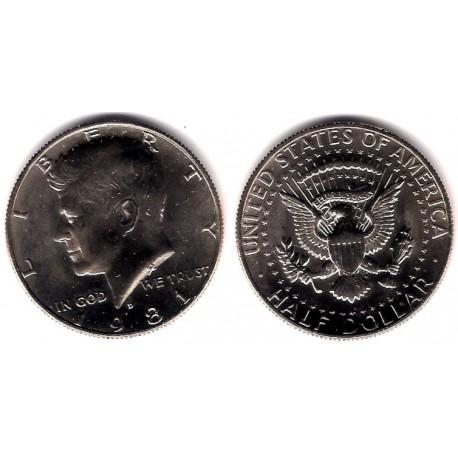 (A202b) Estados Unidos de América. 1981(D). Half Dollar (EBC+) (Plata)
