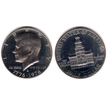 (205) Estados Unidos de América. 1976(S). Half Dollar (Proof)