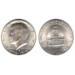 (205a) Estados Unidos de América. 1976(S). Half Dollar (SC) (Plata)