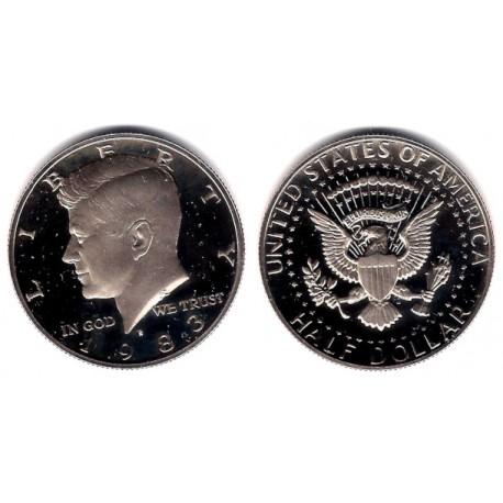 (A202b) Estados Unidos de América. 1983(S). Half Dollar (Proof)