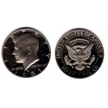 (A202b) Estados Unidos de América. 1981(S). Half Dollar (Proof)
