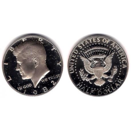 (A202b) Estados Unidos de América. 1982(S). Half Dollar (Proof)