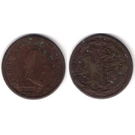 Fernando VII. 1817. 8 Maravedi (BC-/RC+) Ceca de Jubia