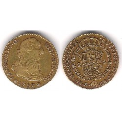 Carlos III. 1787. 2 Escudos (MBC-) (Oro) Ceca de Sevilla CM