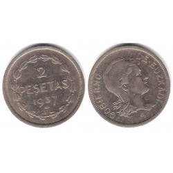 Gobierno de Euskadi. 1937. 2 Pesetas (MBC+)