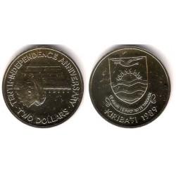 (14) Kiribati. 1989. 2 Dollars (SC)