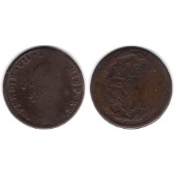 Fernando VII. 1820. 8 Maravedi (RC) Ceca de Jubia