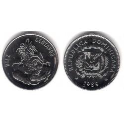 (70) República Dominicana. 1989. 10 Centavos (SC)