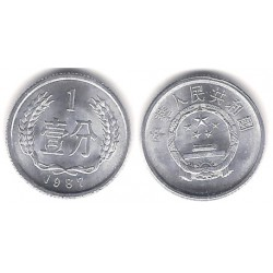 (1) China. 1987. 1 Fen (SC)