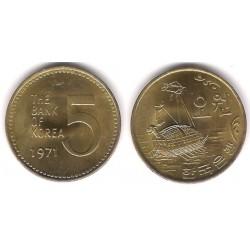 (5a) Corea del Sur. 1971. 5 Won (EBC+)